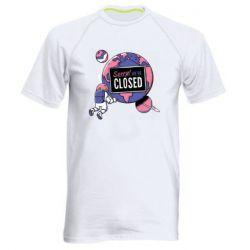 Чоловіча спортивна футболка Sorry we're closed