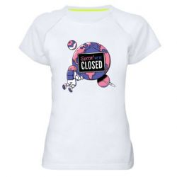 Жіноча спортивна футболка Sorry we're closed