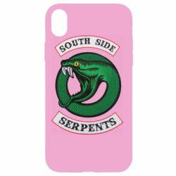 Чехол для iPhone XR South side serpents stripe