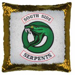 Подушка-хамелеон South side serpents stripe