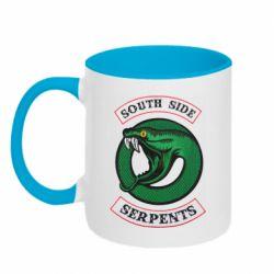 Кружка двухцветная 320ml South side serpents stripe