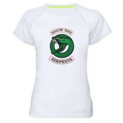 Женская спортивная футболка South side serpents stripe