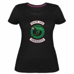 Женская стрейчевая футболка South side serpents stripe