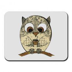 Коврик для мыши Сова с кофе