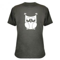 Камуфляжная футболка Сова - FatLine