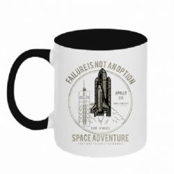Кружка двоколірна 320ml Space Adventure, failure is not an option