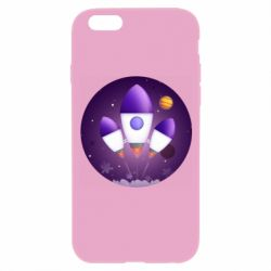 Чехол для iPhone 6/6S Space and rocket