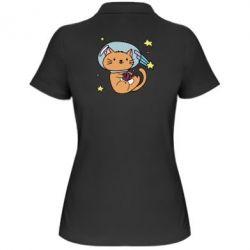 Купить Женская футболка поло Space Cat, FatLine