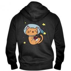 Мужская толстовка на молнии Space Cat