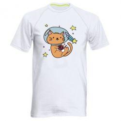 Купить Мужская спортивная футболка Space Cat, FatLine