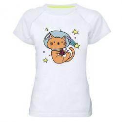 Купить Женская спортивная футболка Space Cat, FatLine