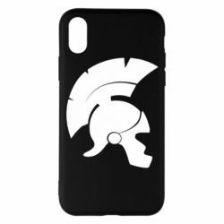 Чехол для iPhone X/Xs Spartan helmet