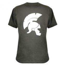 Камуфляжная футболка Spartan helmet