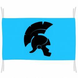 Флаг Spartan helmet
