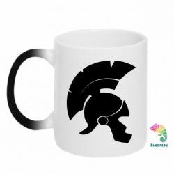 Кружка-хамелеон Spartan helmet