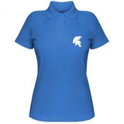 Женская футболка поло Spartan helmet