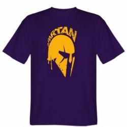 Мужская футболка Spartan minimalistic helmet
