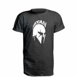 Удлиненная футболка Spartan minimalistic helmet