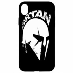 Чехол для iPhone XR Spartan minimalistic helmet