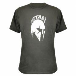 Камуфляжная футболка Spartan minimalistic helmet