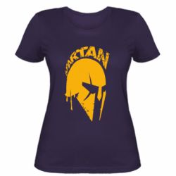 Женская футболка Spartan minimalistic helmet