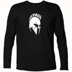 Футболка з довгим рукавом Spartan minimalistic helmet
