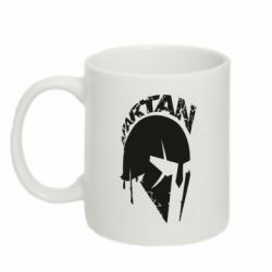 Кружка 320ml Spartan minimalistic helmet