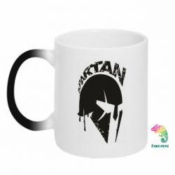 Кружка-хамелеон Spartan minimalistic helmet