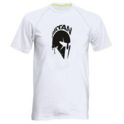 Мужская спортивная футболка Spartan minimalistic helmet