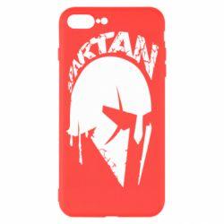 Чехол для iPhone 7 Plus Spartan minimalistic helmet