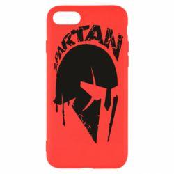 Чехол для iPhone 8 Spartan minimalistic helmet