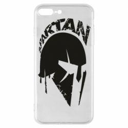 Чохол для iPhone 8 Plus Spartan minimalistic helmet