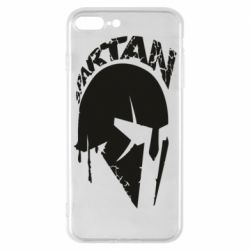 Чехол для iPhone 8 Plus Spartan minimalistic helmet