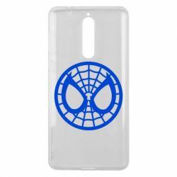 Чехол для Nokia 8 Спайдермен лого - FatLine