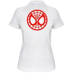 Женская футболка поло Спайдермен лого - FatLine