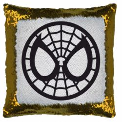 Подушка-хамелеон Спайдермен лого