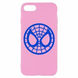 Чехол для iPhone 7 Спайдермен лого