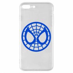 Чехол для iPhone 7 Plus Спайдермен лого