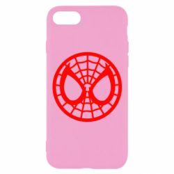 Чехол для iPhone 8 Спайдермен лого