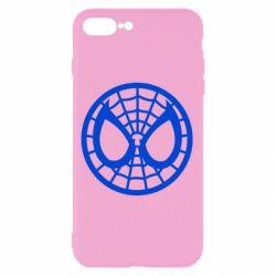 Чехол для iPhone 8 Plus Спайдермен лого