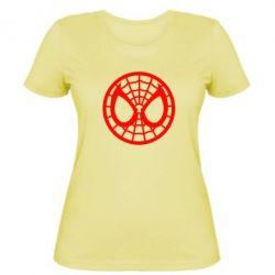 Женская футболка Спайдермен лого