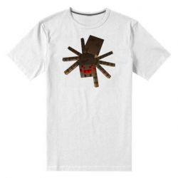 Мужская стрейчевая футболка Spider from Minecraft