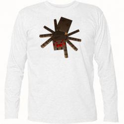 Футболка с длинным рукавом Spider from Minecraft