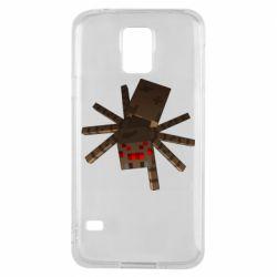 Чехол для Samsung S5 Spider from Minecraft