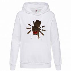 Женская толстовка Spider from Minecraft