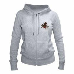 Женская толстовка на молнии Spider from Minecraft