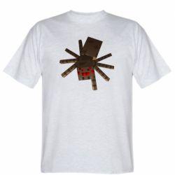 Мужская футболка Spider from Minecraft