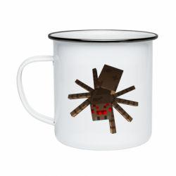 Кружка эмалированная Spider from Minecraft