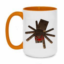 Кружка двоколірна 420ml Spider from Minecraft