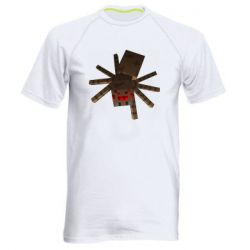 Мужская спортивная футболка Spider from Minecraft